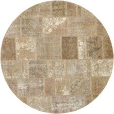 beżowy dywan okrągly perski Round Beige 0990
