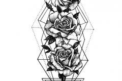 Розы геометрия дотворк