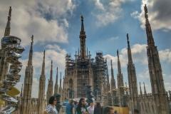 Dôme de Milan les toits
