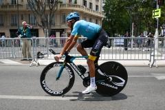 Sprint maillot bleu