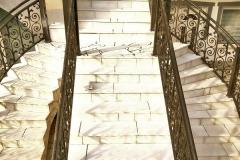 sečeni prirodni kamen stepenice