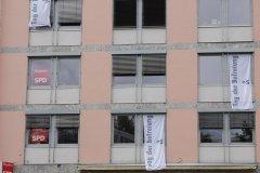 SPD Zentrale Bayern in München, Beflaggung zum Tag der Befreiung von München vor 75 Jahren  2020