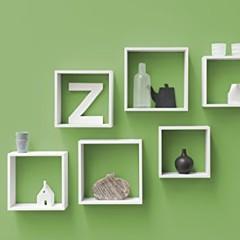 Duraline 3TC Dekoratives Wandregal, MDF, Weiß, 30 x 12 x 30 cm - 4