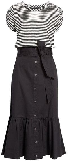 Veronica Beard capri midi t-shirt dress | 40plusstyle.com