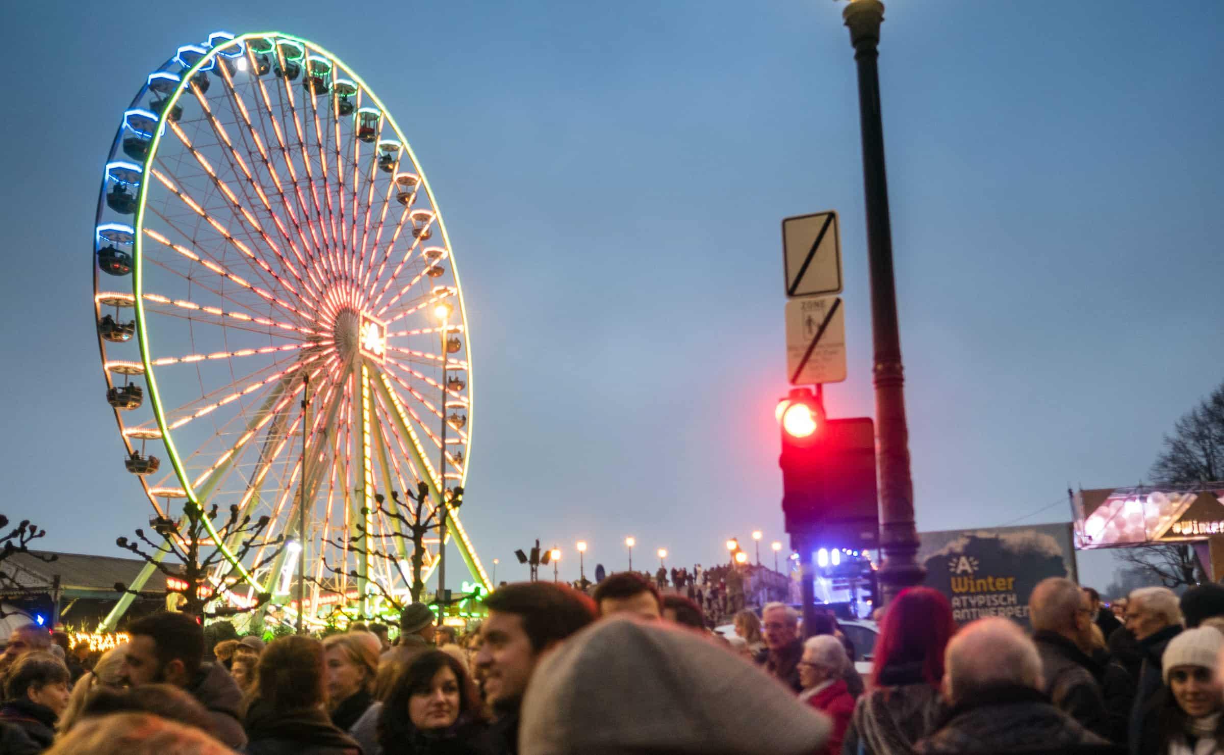 Reuzenrad Winter in Antwerpen