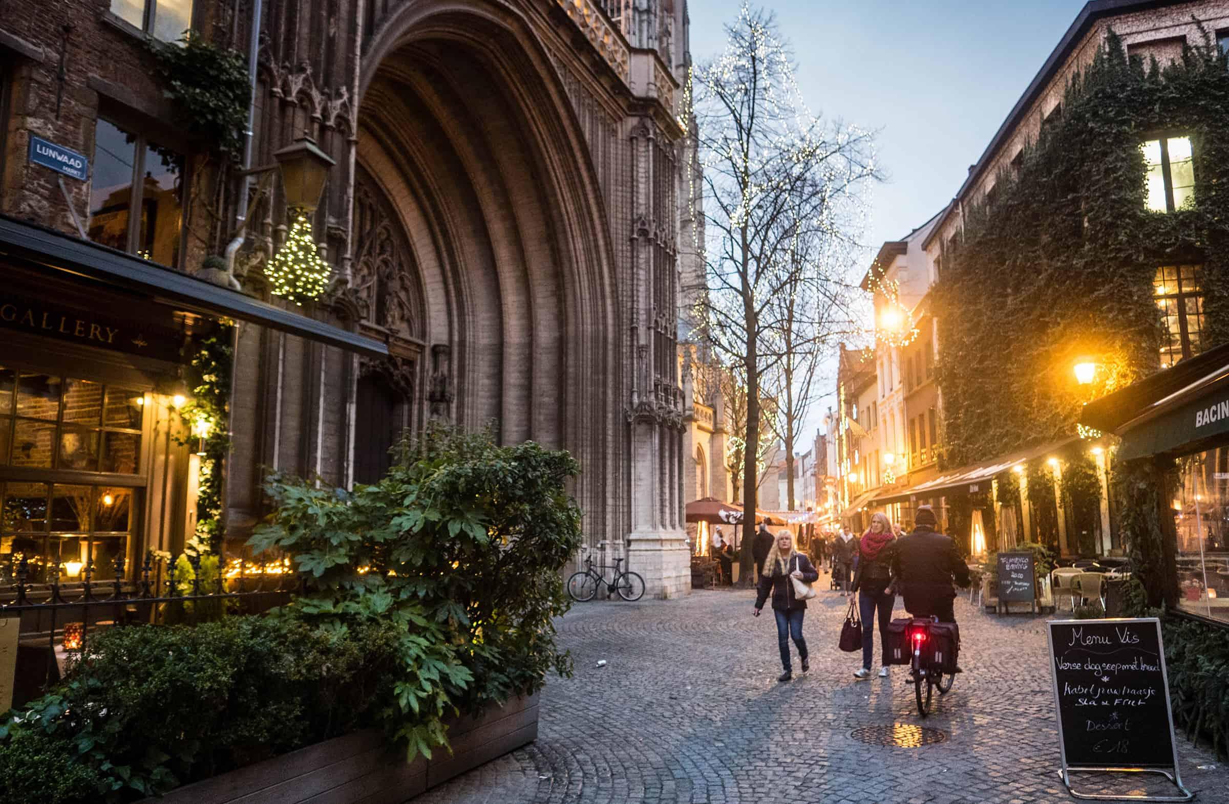 Gezellige straatjes van Antwerpen