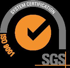 Logo der SGS ISO 9001 Zertifikation