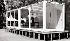 Container Verglasung Glascontainer Infopoint Wiener Festwochen