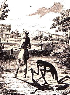 Adelbert von Chamisso: Peter Schemihl, by George Cruikshank, 1827, Source: Wikipedia