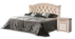Кровать Карина-3 (1 спинка) беж с мягк.сп. подъемная 1