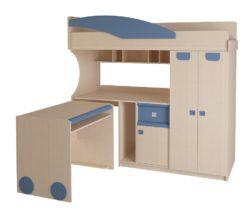 Детская № 4.4.2 + выкатной стол (синий) 2
