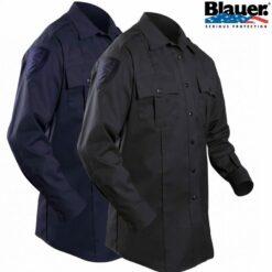 Blauer Long-Sleeve Cotton Blend Shirt 8703