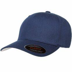 Premium Original V-FlexFit Cotton Twill Fitted Ball Cap Hat Navy Blue