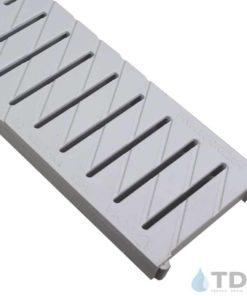 495 PNH100KCAM-gris grey plastic slotted grate Ulma