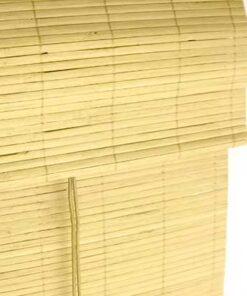 bamboe vouwgordijnen in natuur kleur