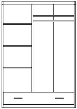 Шкаф 3-х дверный изд. 29 серии ЖК 4.5 вариант №3 2