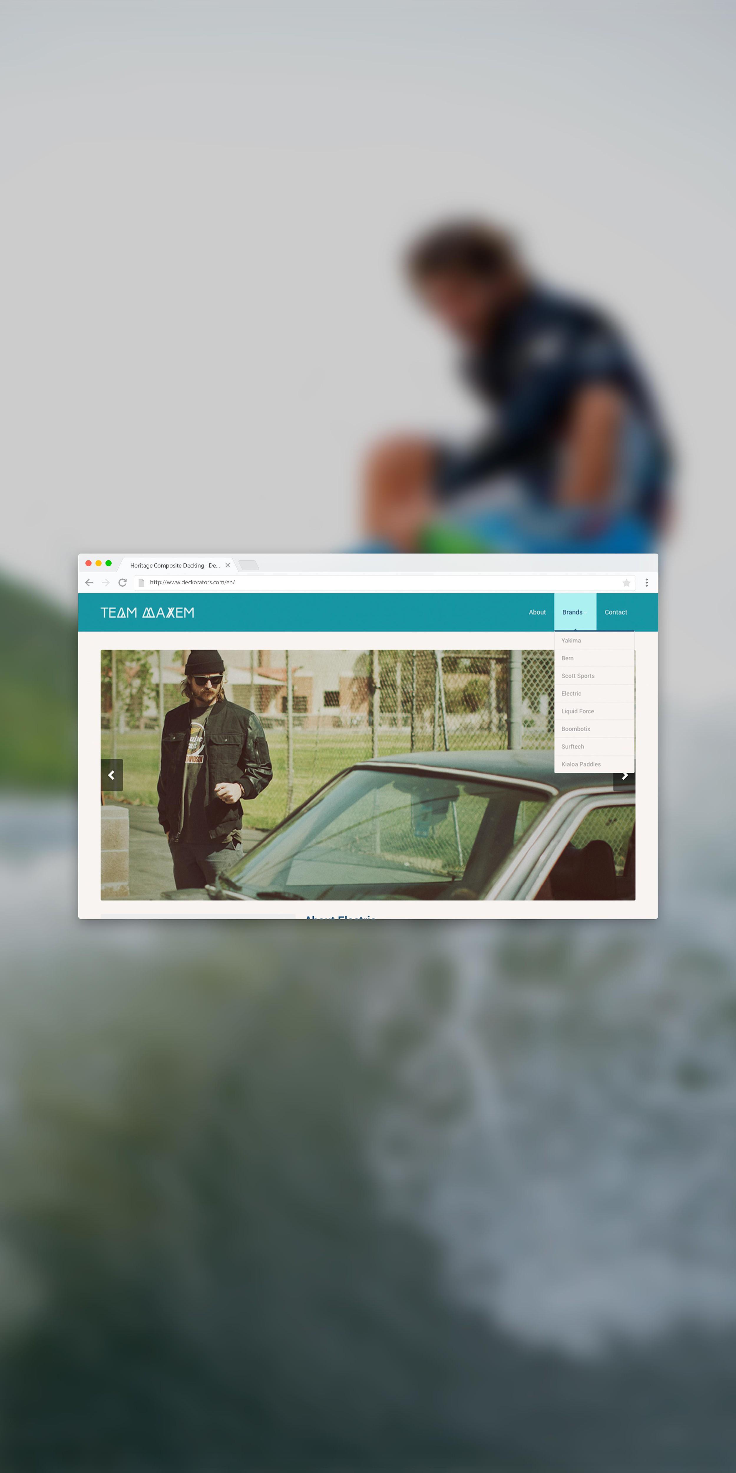 team maxem website on chrome browser