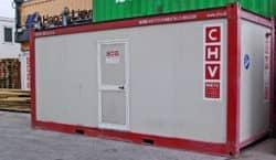 20ft Bürocontainer gebraucht CHV300 Fenster seitlich 300.612-6