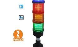 Kolumna LED FL70: 5kolorów + buzzer, IP65, 4tryby świecenia! komplet