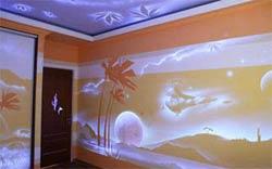 Необычные идеи в покраске потолка