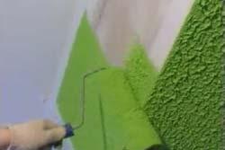 Покраска валиком стен фактурной краской