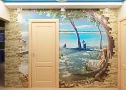 оригинальный вариант отделки стен в частном доме