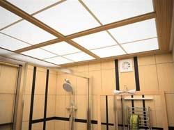 Оригинальная отделка потолка в ванной