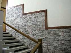 Необычная отделка стен облицовочной плиткой
