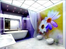 Нестандартная отделка ванной