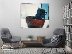 """Modernes Wandbild """"Schüssel mit Kanne"""" von Conny Niehoff (2018)"""