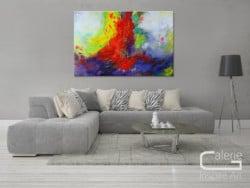 """Farbenfrohes Acrylgemälde """"Synthese"""" von L. Schade"""