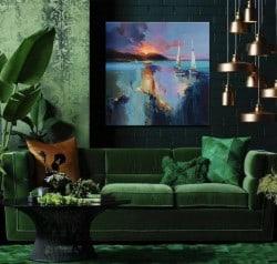 """Abstraktes Ölgemälde """"Deep Ray of Light"""" von Tetiana BOND"""