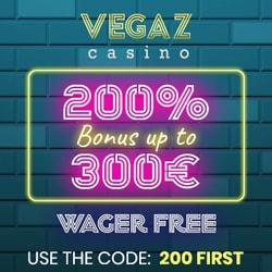Vegaz Casino banner