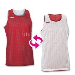 Koszulki koszykarskie JOMA Aro biała i czerwona