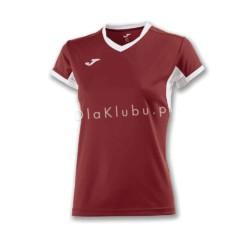 Koszulka sportowa damska JOMA Champion IV bordowo biała