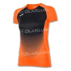 Koszulka siatkarska z krótkim rękawem damska JOMA Elite IV pomarańczowo-czarna