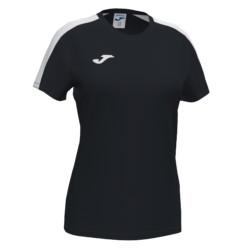 Koszulka sportowa damska Joma Academy III czarno biała 901141.102