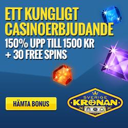 SverigeKronan Casino 30 gratis spins och 1500 SEK free bonus
