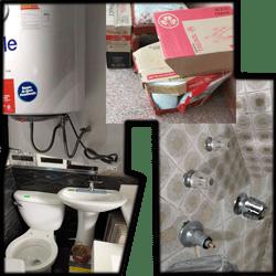 Instalación de Termas, Lavamanos y inodoro, Llaves de paso