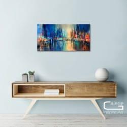 """Urbanes Gemälde """"Die Stadt"""" von A. Schmucker (2019)"""