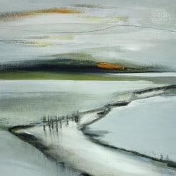 """abstraktes Kunstbild """"Es wird am Frühling am Fluss"""" von C. Niehoff"""