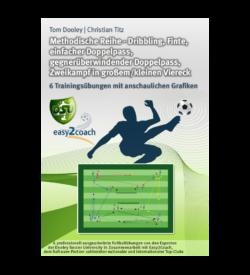 Doppelpass Fußball Übungen für dein Fußballtraining - Dribbling, Finte, einfacher Doppelpass, gegnerüberwindender Doppelpass, Zweikampf in großem/kleinen Viereck