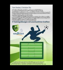 Zweikampf in Gleichzahl Fußball Übungen für dein Fußballtraining - Tempodribbling, Dribbling, Finten, Passspiel, Ballannahme und -mitnahme, Doppelpass, gegnerüberwindenes Passspiel, Zweikampf in Gleich-/Über- oder Unterzahl