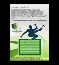 Kopfballtechnik Fußball Übungen für dein Fußballtraining - Methodische Reihe: Kopfballtechnik, Kopfball aus der Hocke/Stand/Bewegung, Kopfballwettbewerb, Zuwurf spielgemäß, Kopfballspiel 7 gegen 7 mit Flankenzonen auf 2 Tore