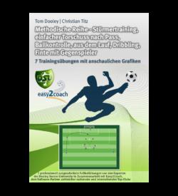 Fußball Übungen für dein Fußballtraining - Methodische Reihe: Stürmertraining, einfacher Torschuss nach Pass, Ballkontrolle, aus dem Lauf, Dribbling, Finte mit Gegenspieler