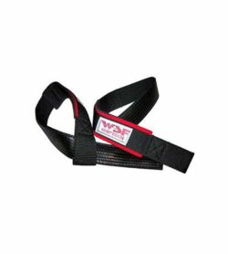 WSF Padded Griptech Ruberized Lifting Straps one front side another back side shown in white background
