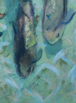 """Acryl Bild """"Fische"""""""