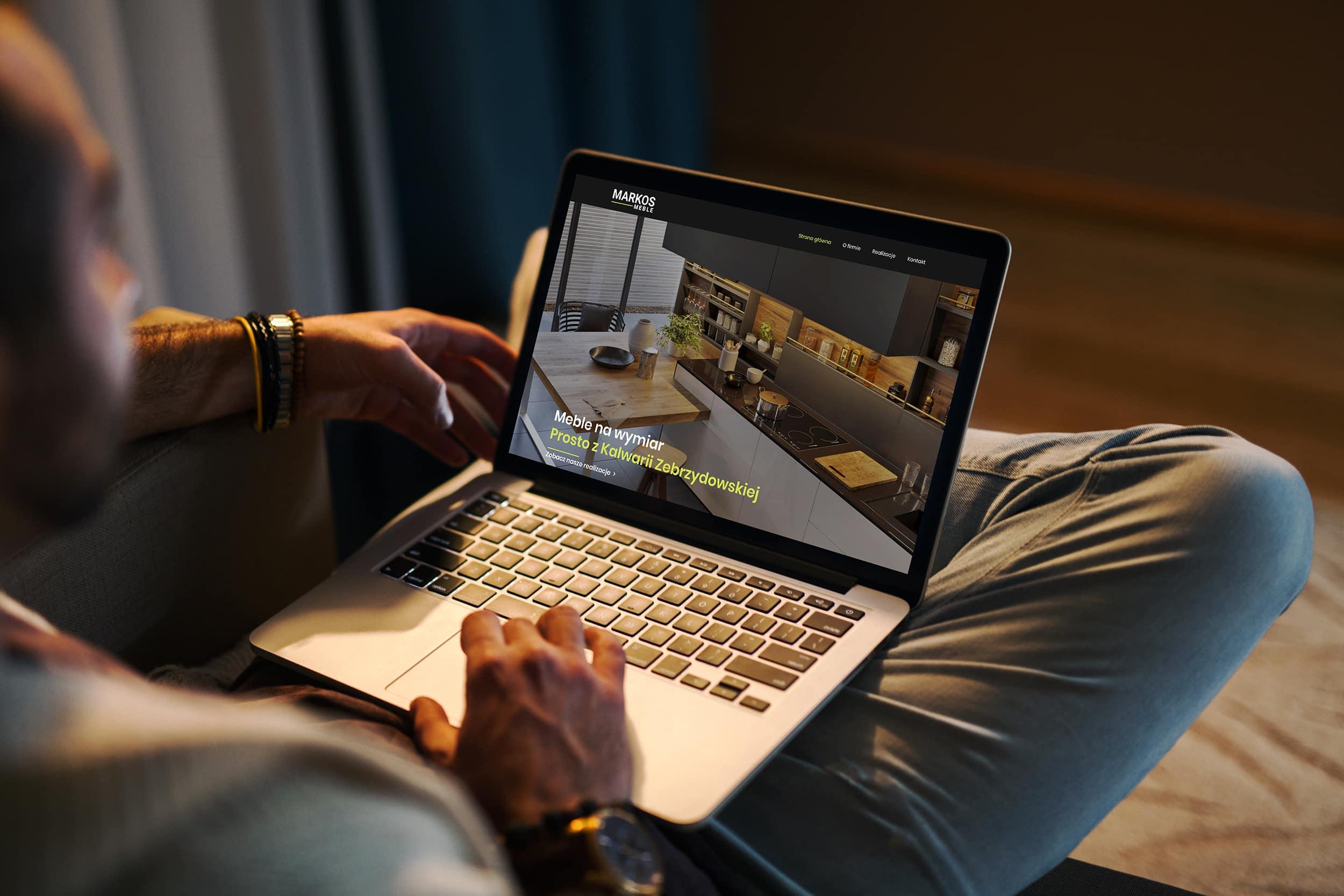 screenshot - strona internetowa meble tapicerowane kalwaria zebrzydowska