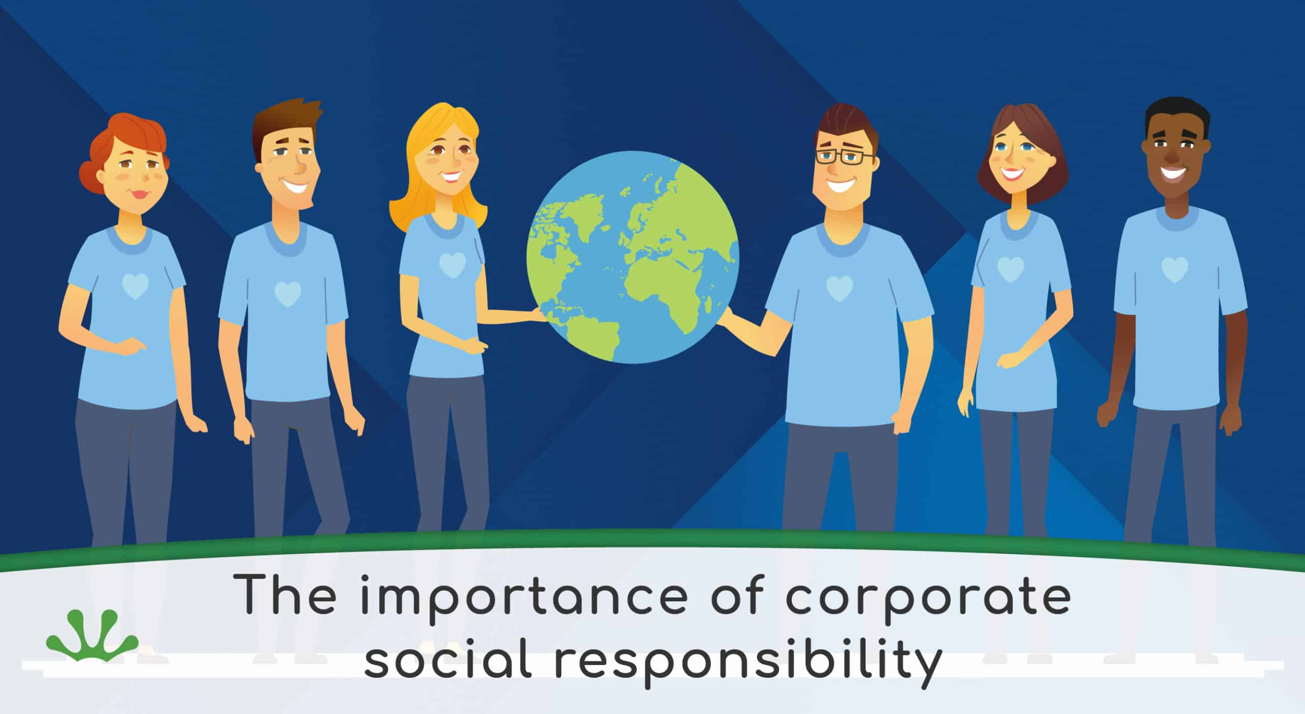 Illustration showing corporate social responsibility