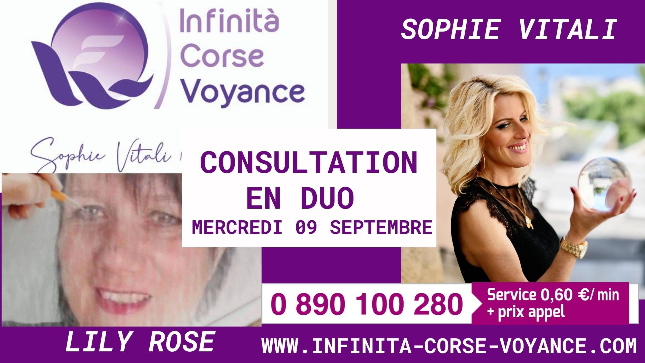 Consultations de voyance en duo avec Sophie Vitali et Lily Rose